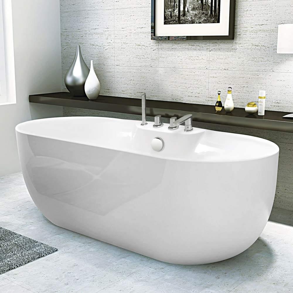 Badewanne freistehend mit glänzend Effekt und Elegantem Design ATMOSPHERE
