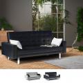 Schlafsofa Sofabett Couch Klappsofa 2-Sitzer Kunstleder AGATA